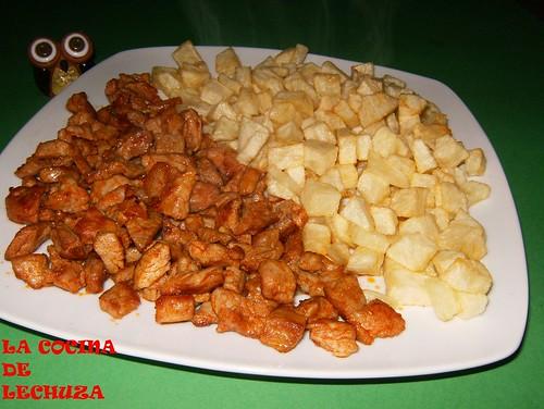 Zorza con patatas fuente