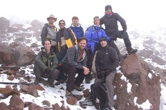 Group photo at 17,130 ft. on Chimborazo