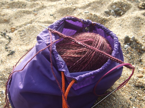 beach knitting 2