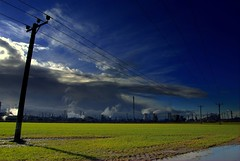 Power of Scotland (Nicolas Valentin) Tags: blue sky cloud nature electric scotland scenery power energie cable bleu grangemouth firstquality 1nv