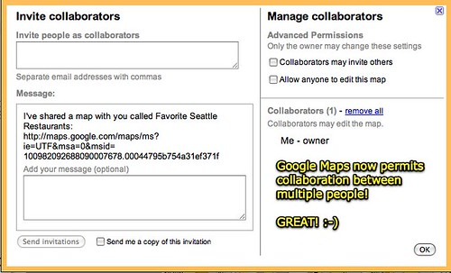 Google Maps - Collaboration Welcome