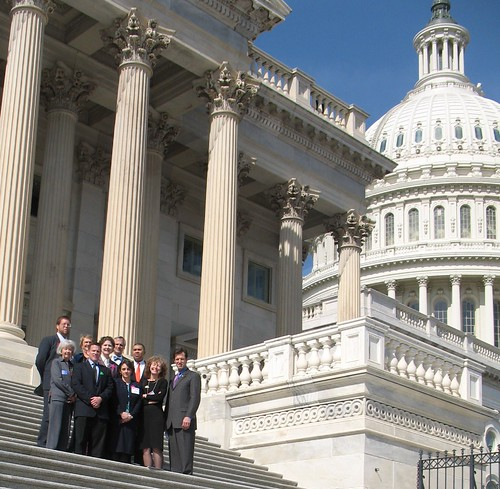 Missouri delegation at the U.S. Capitol for the National Bike Summit
