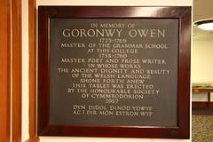 goronwy owen plaque in swem library 3rd fl poets corner 03