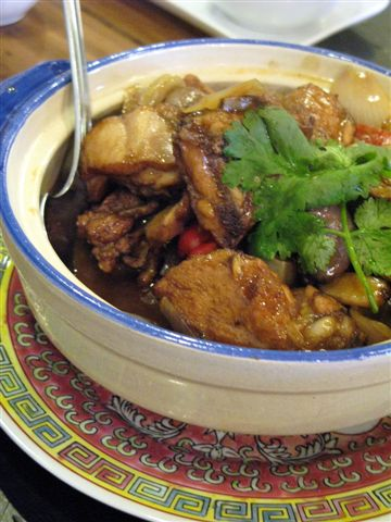 chicken in clay pot