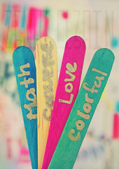 My life is Colorful , Love , Converse nd Math (Aih.) Tags: pink blue 3 green love yellow focus colorful math luv zenatel3ain