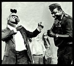 Bert is Evil: Play Boxing with Idi Amin (Good Honest Iago/James W Bell) Tags: is muppets bert evil sesamestreet uganda idiamin bertisevil evilbert lastkingofscotland