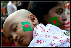 Amar Bangladesh - III (Catch the dream) Tags: sleeping red portrait green face festival children peace sleep flag bongo calm bengal bangladesh bangla bengali bangladeshi bangali noboborsho bengalinewyear catchthedream gettyimagesbangladeshq2