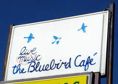 The Bluebird Cafe Sign