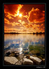 Tomorrow (deer027) Tags: red sky usa cloud sun lake reflection rock wideangle iowa nikond50 ames tobacco 2007 sigma1020mm cokin karmapotd karmapotw diamondclassphotographer alemdagqualityonlyclub thebestwaterscapes