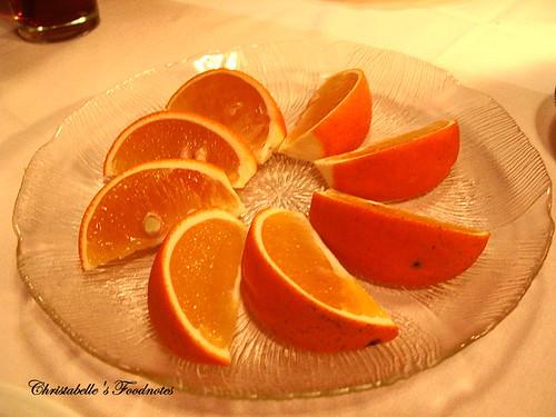 紅屋牛排餐後水果
