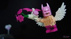Cupid Batman (-Leot-) Tags: lego minifigure minifig 14days 14daysofvalentine vaentinesdayvalentine batman bat marvel comic superhero heart love angel leot cupid