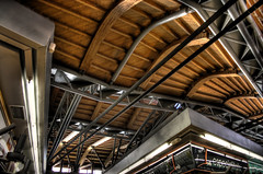 santa caterina market interior (mrich) Tags: barcelona santa wood roof food building public architecture studio design store spain market steel space structure espana caterina catalunya enrique renovation vella architects groceries hdr miralles ciutat embt