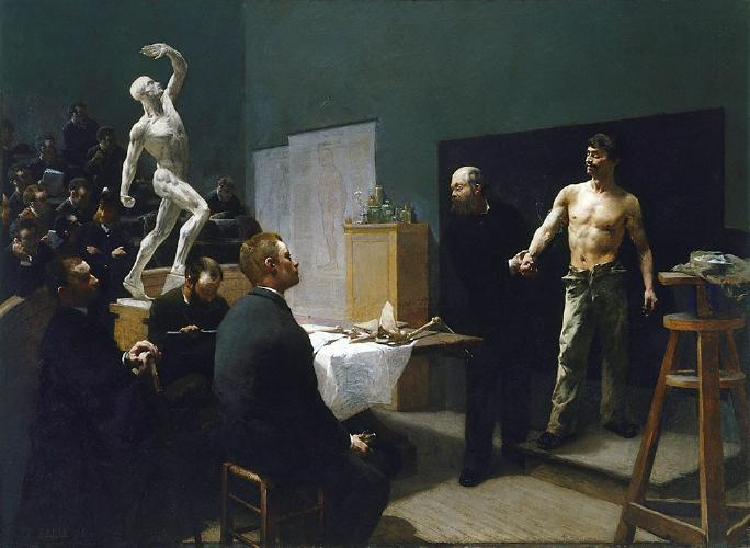 François Sallé (France, 1839-1899) The anatomy class at the Ecole des Beaux Arts (1888) Oil on canvas. 218 by 299 cm. Art Gallery of New South Wales, Sidney.