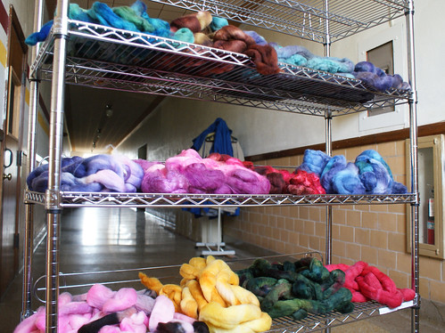 Dregs dyeing