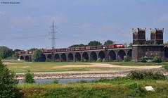 RBH 803 ( Vossloh G1206 ) (vsoe) Tags: germany deutschland hafen duisburg rhein ruhrgebiet hkm 803 fals ruhrpott rheinhausen güterzug rbh rheinbrücke vossloh g1206 kohlezug wannheim
