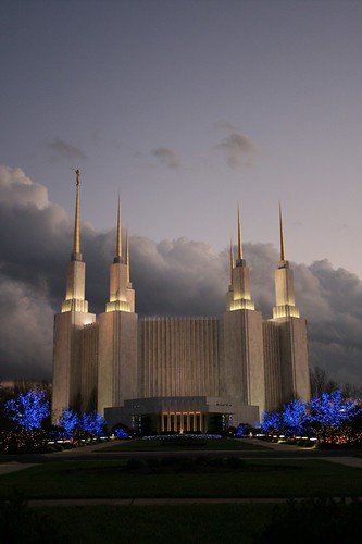 Washington D.C. Temple for Chirstmas