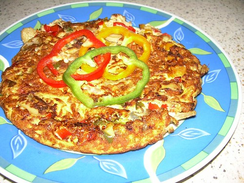 colourful pork omellette