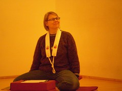 Dharmadakini introduces herself at Buddhistisches Tor