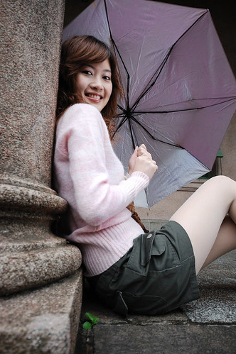 Sexy Asian Beauty with Umbrella