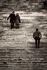 Roman's Stairs (Dr eelgood ) Tags: people blackandwhite roma sepia stairs travels oldcity drfeelgood puntidivista altaredellapatria bwdreams peppebrico goldstaraward