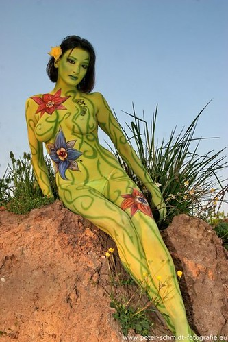 Hot Girl Whole Body Paint