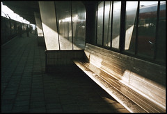 at the station (swswann) Tags: light trainstuff shaftsofsunlight amlichtsinnerraetstdudieseele