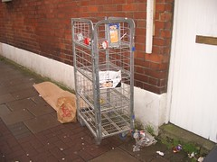 the kfc and some sort of cart rubbish