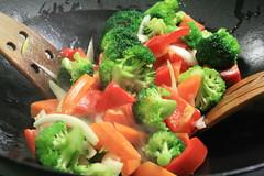 Poivrons & oignons au wok