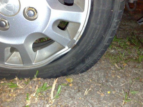 Refresh your memory: punctured tyre