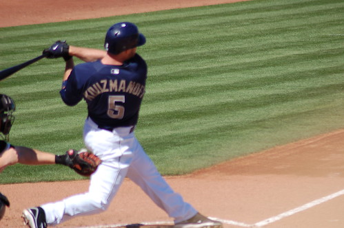 Padres third baseman Kevin Kouzmanoff homers off White Sox right-hander Jose Contreras