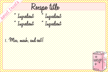 free recipe card template example