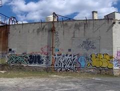 nice graffiti collection (philascene) Tags: street city urban philadelphia grit graffiti north tags viaduct boner philly kensington lehigh grafs frankford