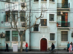 """"""" 2 route de Grouchy """" (Phil Wong 黄飛立) Tags: china street windows architecture facade apartments shanghai oldbuildings doorway 上海 shanghaiist frenchconcession 法租界"""