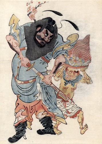 Zhong Kui drawing his sword - 17th cent.