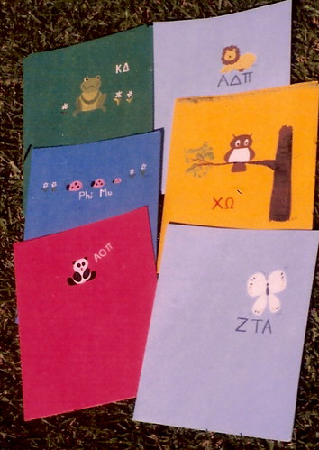 sorority hand-painted notebooks