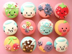 puccho (japanese candy) cupcakes!!! (hello naomi) Tags: cute japanese cupcakes strawberry cherries candy peach blueberry kawaii melon puccho yoghurtboy