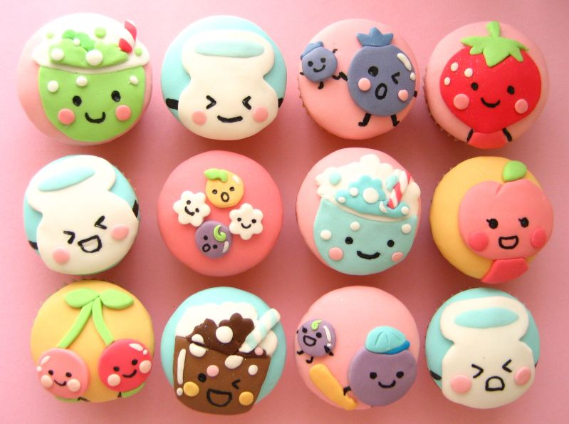Cute Cupcakes Cartoon