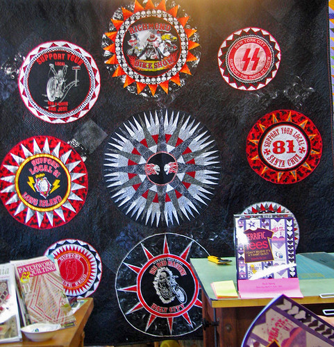 Motorcycle Tshirt Quilt by Roberta Deluz
