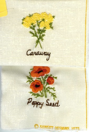 Embroidered Flowers/Spices