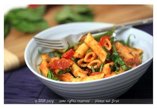 Penne with Vegetable Marinara Sauce 3