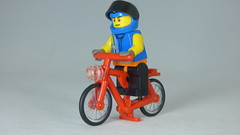 Brick Yourself Custom Lego Figure Concentrating Cyclist