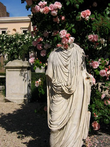 Headless statue.