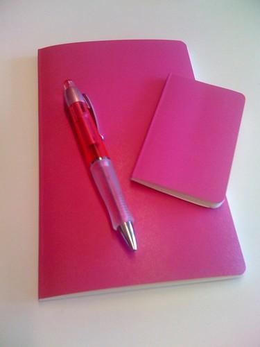 Nya block och pennor