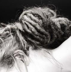 (Photographs&Souvenirs) Tags: portrait woman white selfportrait black hair dreads