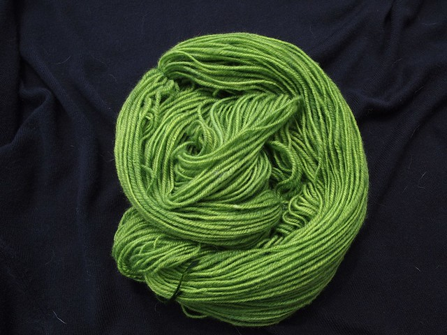 dyed handspun yarn, mystery fiber