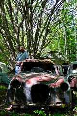 Scrapyard in Bstns (Tanja Bromley) Tags: cars abandoned car rust sweden scrapyard oldcar scrap oldcars bstns