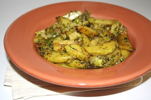 White Eggplant with cilantro and garlic