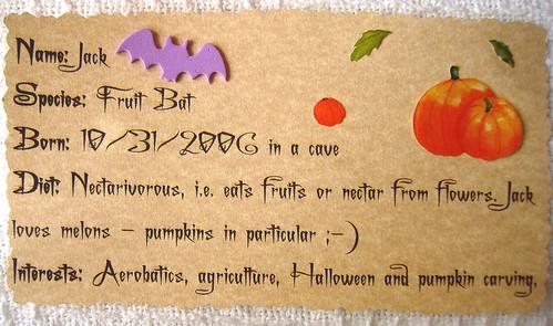 Bat info card