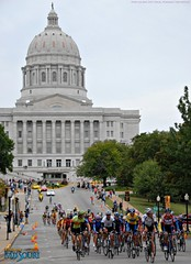 Tour of Missouri near the State Capitol in Jefferson City