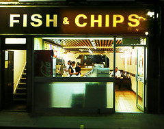 fish&chips (buckaroo kid) Tags: uk england london soho fishchips londonist berwickst foodography